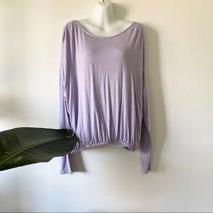 NWT Joy Lab Pullover Purple Open Back Top